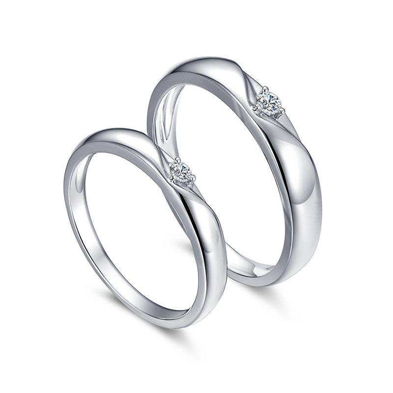 浪漫时光 18k金钻石对戒
