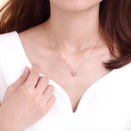 初心 18k金钻石吊坠 时尚饰品 钻...