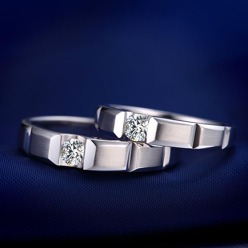 爱印心 18K金/Pt950铂金钻石...