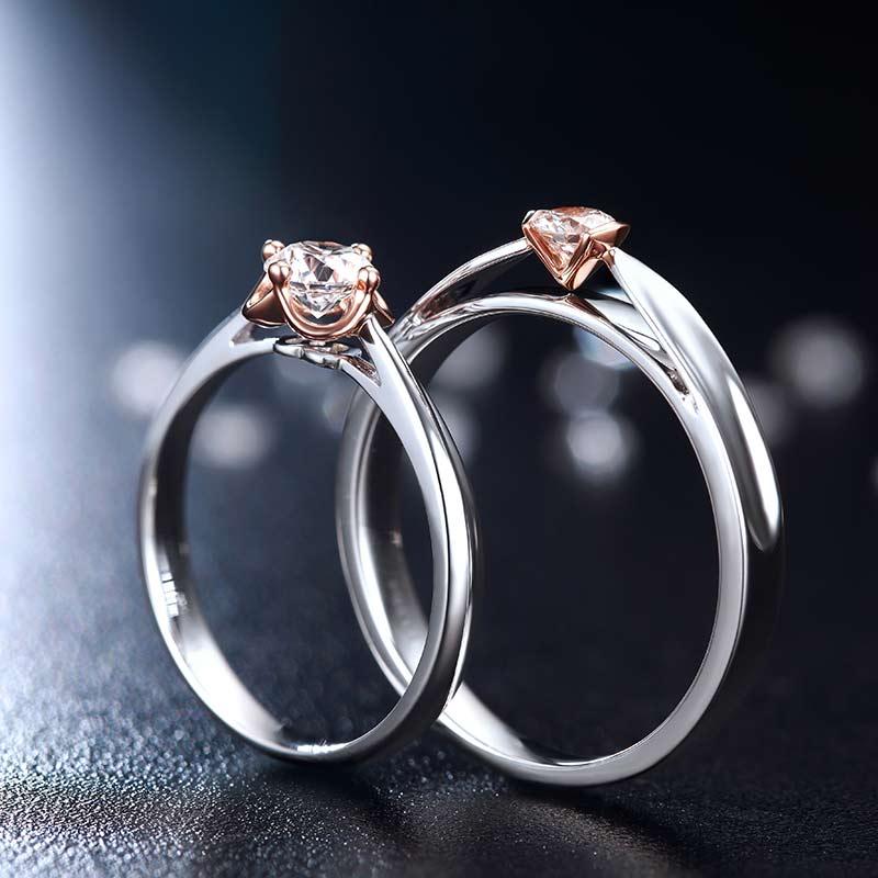 爱相伴 18K金钻石对戒