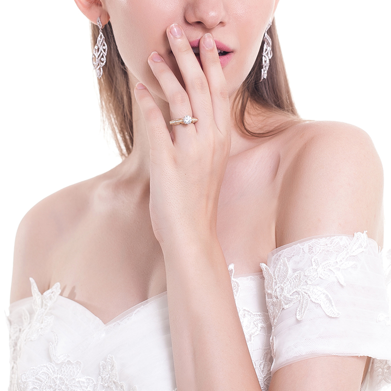 雅典娜-香邂巴黎 18k金钻石女戒