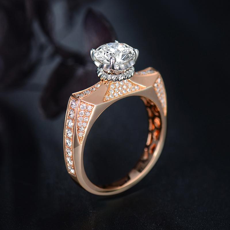 玛蒂娜-香邂巴黎 18k金钻石女戒