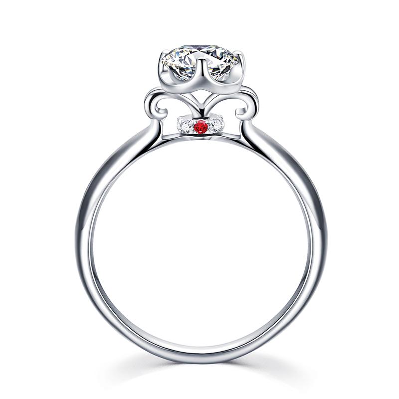 爱的轮回-心之吻 18K金钻石女戒