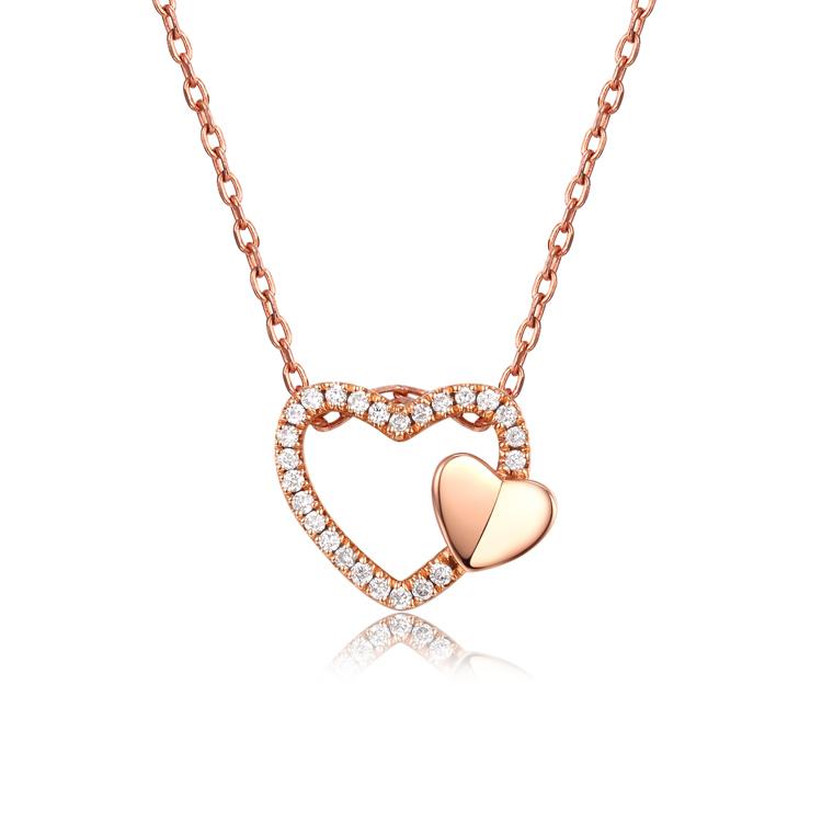 爱心·18K金钻石吊坠