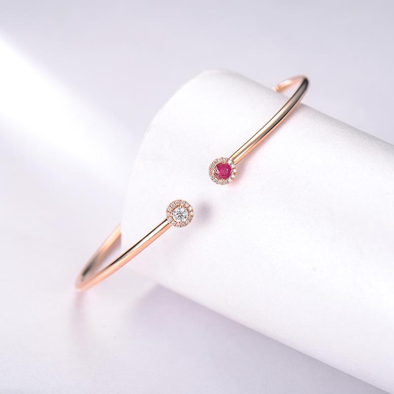 【BoBo】18k金女 钻石手镯
