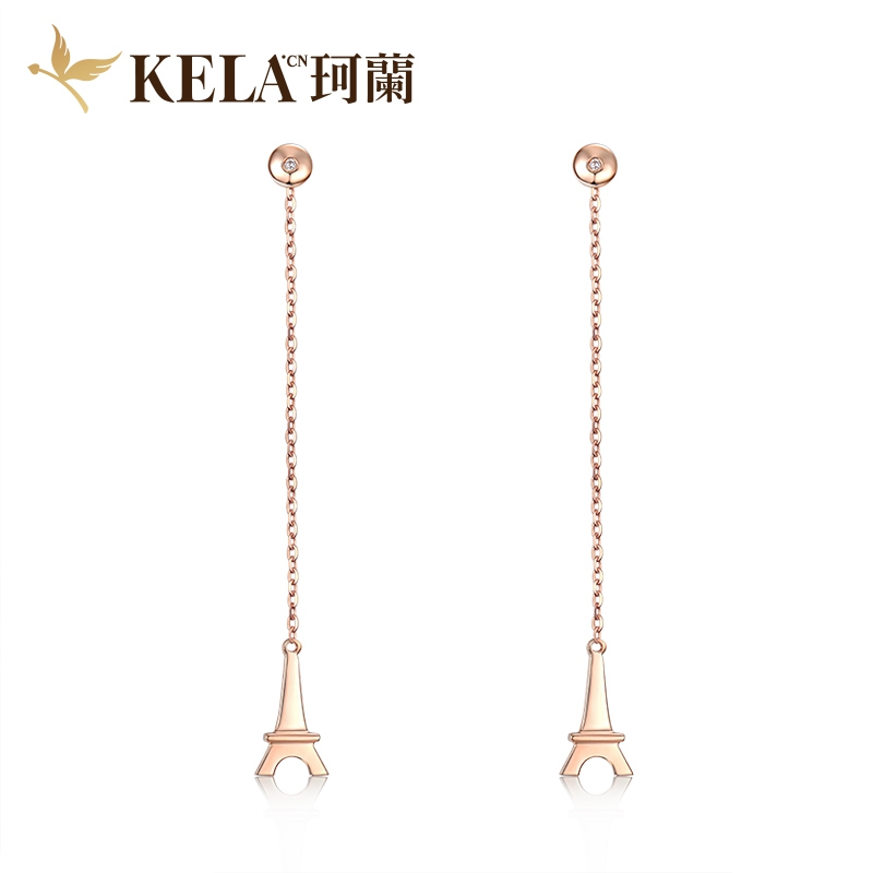 铁塔 18K金钻石耳饰-《凉生》系列 剧中同款