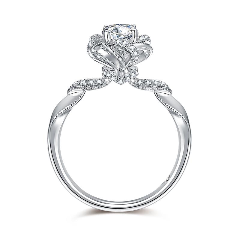 许愿精灵 18K金钻石女戒-皇室公主