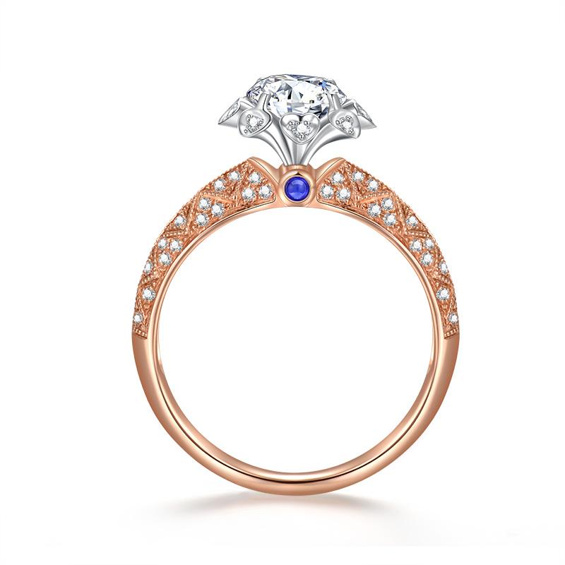 星河 18K金钻石女戒-皇室公主