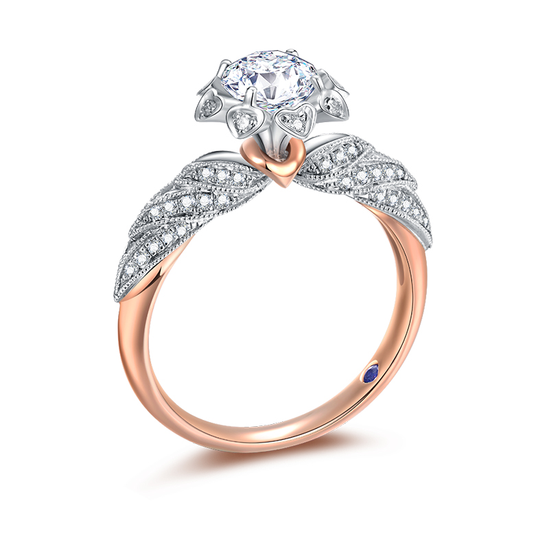 守护天使 18K金钻石女戒-皇室公主