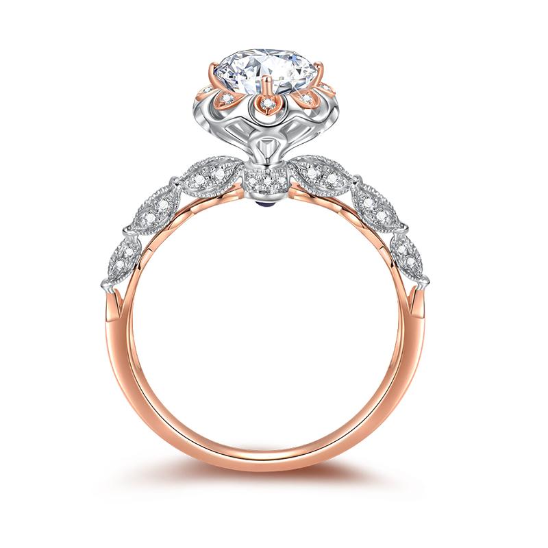 公主皇冠 18K金钻石女戒-皇室公主