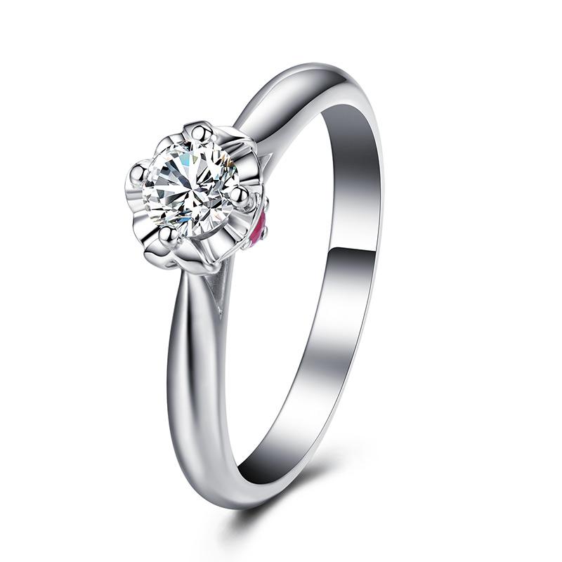浪漫之吻 心之吻 18K金钻石女戒xzw