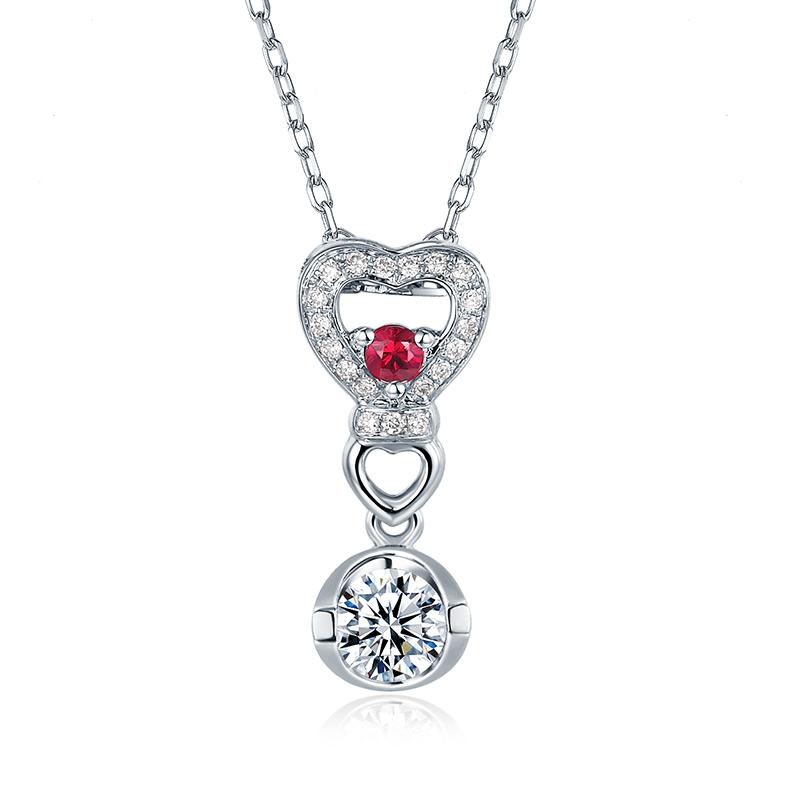 甜心 心之吻 18K金钻石吊坠