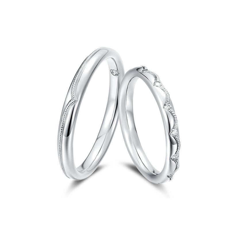 BLISS 幸福PT950铂金钻石情侣对戒 纯爱系列